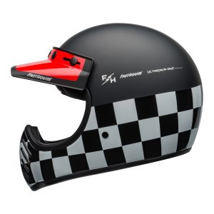 BELL MOTO-3 CLASSIC FASTHOUSE CHECKERS MATT / GLOSS BLACK WHITE RED