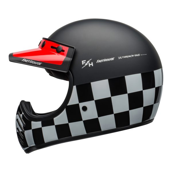 bell-moto-3-culture-helmet-fasthouse-checkers-matte-gloss-black-white-red-left.jpg-Bell 2021 Cruiser Moto 3 Adult Helmet (Fasthouse Checkers M/G Black/White/Red)