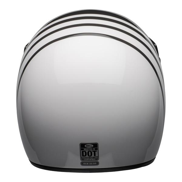 bell-moto-3-culture-helmet-reverb-gloss-white-black-back__03984.1601552301.jpg-Bell Cruiser 2021 Moto 3 Adult Helmet (Reverb White/Black)