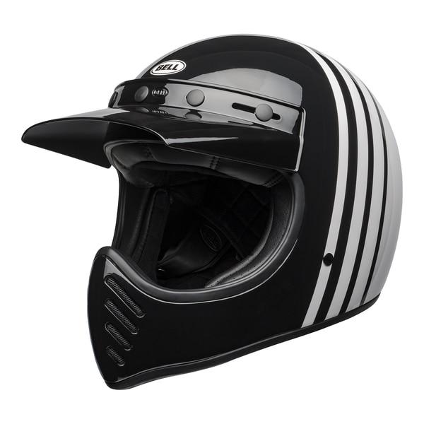 bell-moto-3-culture-helmet-reverb-gloss-white-black-front-left__77075.1601552301.jpg-Bell Cruiser 2021 Moto 3 Adult Helmet (Reverb White/Black)