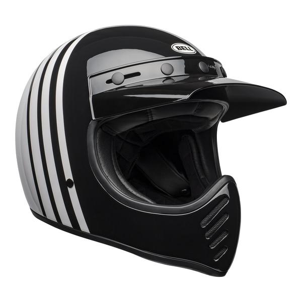 bell-moto-3-culture-helmet-reverb-gloss-white-black-front-right__47002.1601552301.jpg-Bell Cruiser 2021 Moto 3 Adult Helmet (Reverb White/Black)