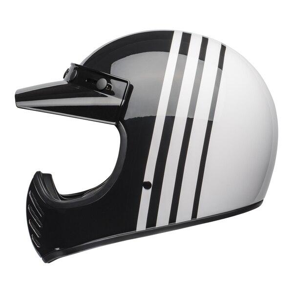 bell-moto-3-culture-helmet-reverb-gloss-white-black-left__93196.1601552301.jpg-Bell Cruiser 2021 Moto 3 Adult Helmet (Reverb White/Black)