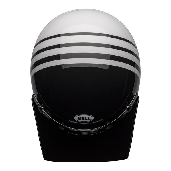 bell-moto-3-culture-helmet-reverb-gloss-white-black-top__51839.1601552301.jpg-Bell Cruiser 2021 Moto 3 Adult Helmet (Reverb White/Black)