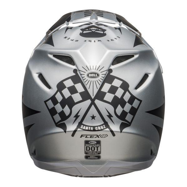 bell-moto-9-flex-dirt-helmet-breakaway-matte-silver-black-back__27656.jpg-Bell MX 2021 Moto-9 Flex Adult Helmet (Breakaway Matte Silver/Black)