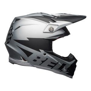 Bell MX 2021 Moto-9 Flex Adult Helmet (Breakaway Matte Silver/Black)