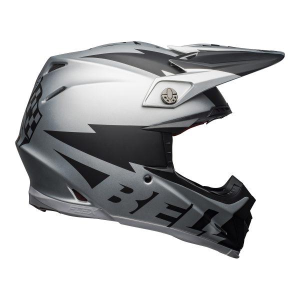 bell-moto-9-flex-dirt-helmet-breakaway-matte-silver-black-right__69263.jpg-Bell MX 2021 Moto-9 Flex Adult Helmet (Breakaway Matte Silver/Black)