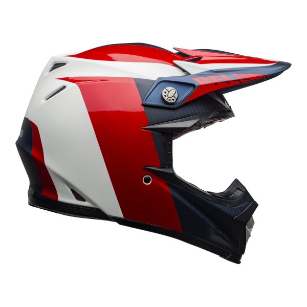 bell-moto-9-flex-dirt-helmet-division-matte-gloss-white-blue-red-right.jpg-Bell MX 2021 Moto-9 Flex Adult Helmet (Division M/G White/Blue/Red)