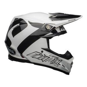 Bell MX 2021 Moto-9 Flex Adult Helmet (Fasthouse Newhall White/Black)