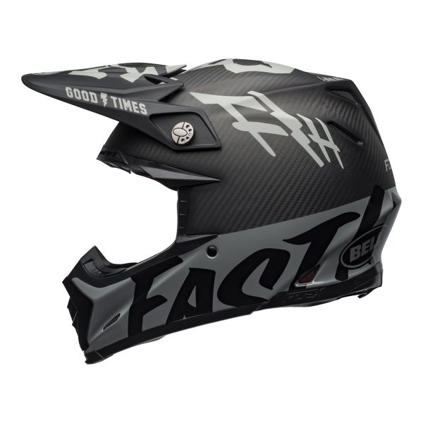 bell-moto-9-flex-dirt-helmet-fasthouse-wrwf-matte-gloss-black-white-gray-left.jpg-Bell MX 2021 Moto-9 Flex Adult Helmet (FastHouse WRWF M/G Black/White/Gray)