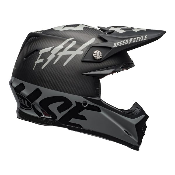 bell-moto-9-flex-dirt-helmet-fasthouse-wrwf-matte-gloss-black-white-gray-right.jpg-Bell MX 2021 Moto-9 Flex Adult Helmet (FastHouse WRWF M/G Black/White/Gray)