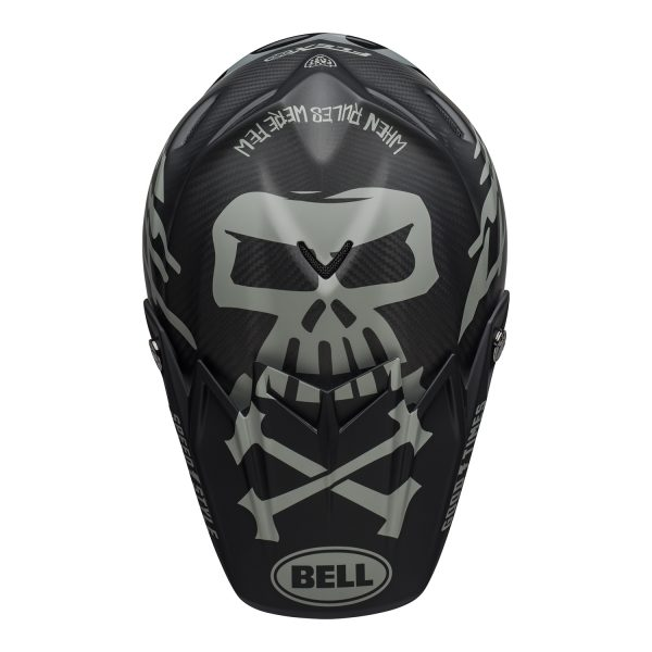 bell-moto-9-flex-dirt-helmet-fasthouse-wrwf-matte-gloss-black-white-gray-top.jpg-Bell MX 2021 Moto-9 Flex Adult Helmet (FastHouse WRWF M/G Black/White/Gray)
