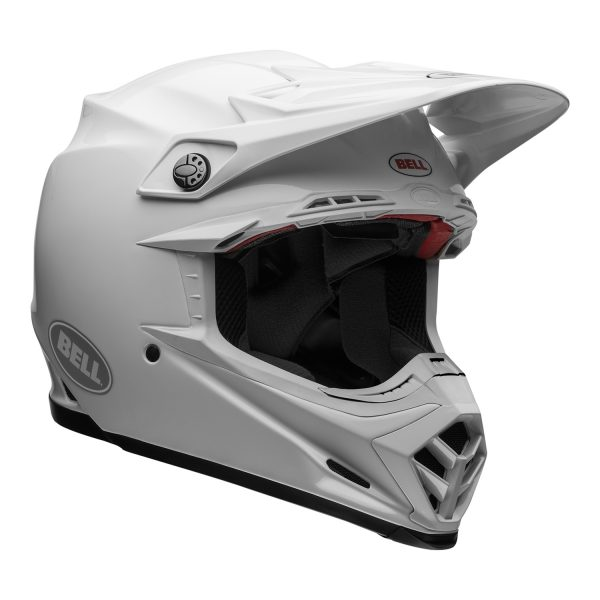 bell-moto-9-flex-dirt-helmet-gloss-white-front-right.jpg-Bell MX 2021 Moto-9 Flex Adult Helmet (Gloss White)