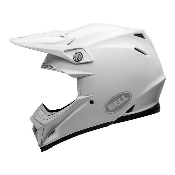 bell-moto-9-flex-dirt-helmet-gloss-white-left.jpg-Bell MX 2021 Moto-9 Flex Adult Helmet (Gloss White)