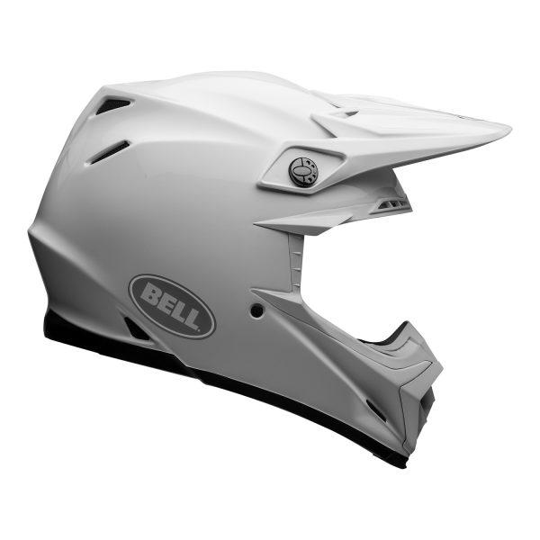 bell-moto-9-flex-dirt-helmet-gloss-white-right.jpg-Bell MX 2021 Moto-9 Flex Adult Helmet (Gloss White)