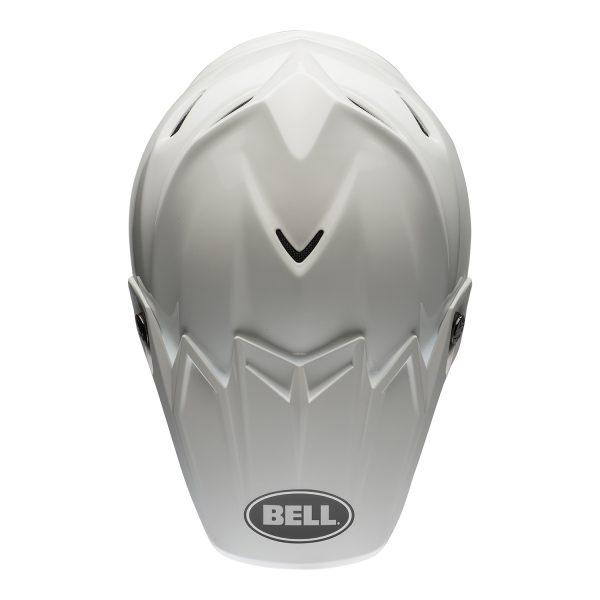 bell-moto-9-flex-dirt-helmet-gloss-white-top.jpg-Bell MX 2021 Moto-9 Flex Adult Helmet (Gloss White)