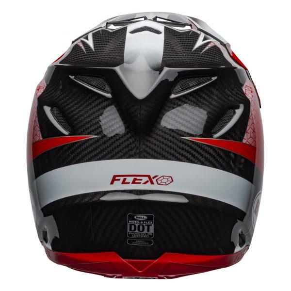 bell-moto-9-flex-dirt-helmet-hound-matte-gloss-red-white-black-back__50281.jpg-Bell MX 2021 Moto-9 Flex Adult Helmet (Hound Red/White/Black)