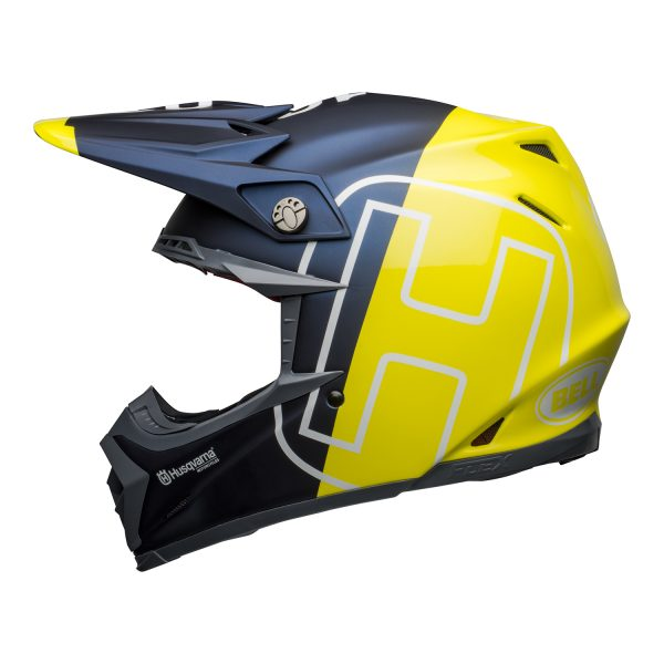 bell-moto-9-flex-dirt-helmet-husqvarna-gotland-matte-gloss-blue-hi-viz-left__23475.jpg-Bell MX 2021 Moto-9 Flex Adult Helmet (Husqvarna Gotland M/G Blue/Hi-Viz)