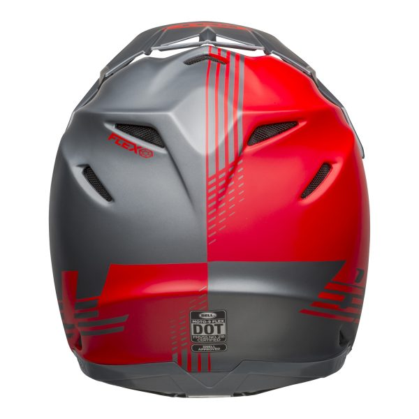 bell-moto-9-flex-dirt-helmet-louver-matte-gray-red-back__28050.jpg-Bell MX 2021 Moto-9 Flex Adult Helmet (Louver Matte Gray/Red)