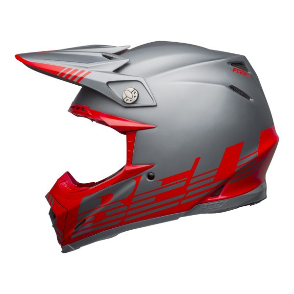 bell-moto-9-flex-dirt-helmet-louver-matte-gray-red-left__54520.jpg-Bell MX 2021 Moto-9 Flex Adult Helmet (Louver Matte Gray/Red)