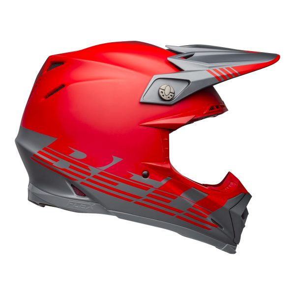 bell-moto-9-flex-dirt-helmet-louver-matte-gray-red-right__89148.jpg-Bell MX 2021 Moto-9 Flex Adult Helmet (Louver Matte Gray/Red)