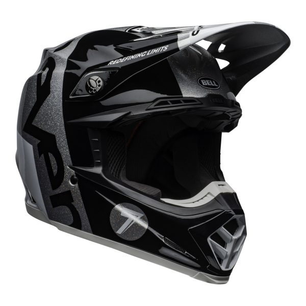 bell-moto-9-flex-dirt-helmet-seven-galaxy-matte-gloss-black-silver-front-right.jpg-Seven MX 2021 Moto-9 Flex Adult Helmet (Galaxy M/G Black/Silver)