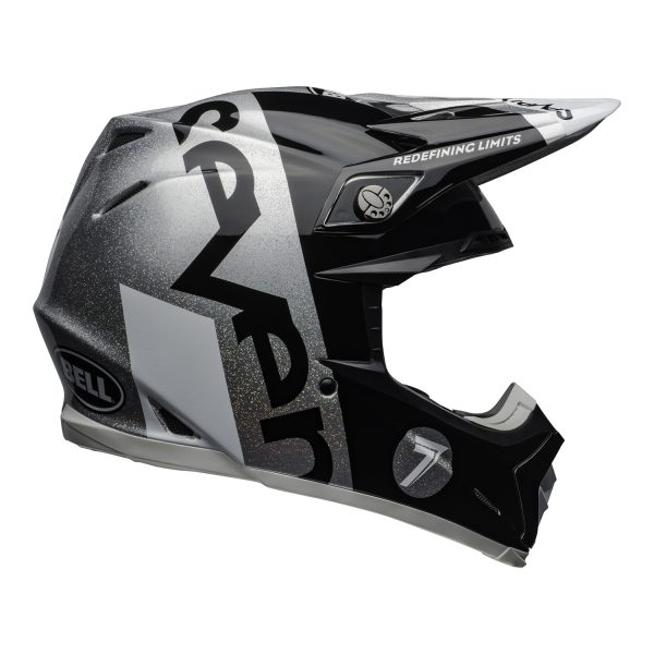 bell-moto-9-flex-dirt-helmet-seven-galaxy-matte-gloss-black-silver-right.jpg-Seven MX 2021 Moto-9 Flex Adult Helmet (Galaxy M/G Black/Silver)