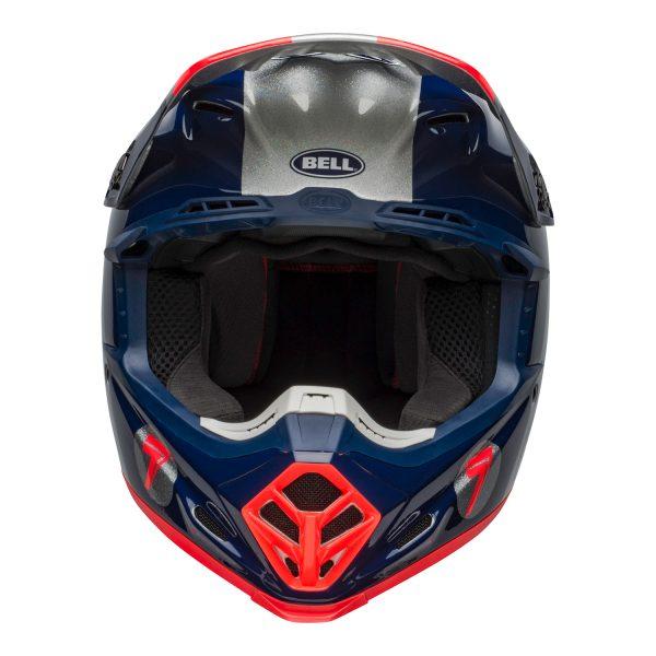 bell-moto-9-flex-dirt-helmet-seven-galaxy-matte-gloss-navy-silver-front.jpg-Seven MX 2021 Moto-9 Flex Adult Helmet (Galaxy M/G Navy/Silver)