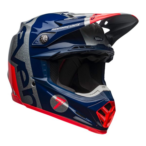 bell-moto-9-flex-dirt-helmet-seven-galaxy-matte-gloss-navy-silver-front-right.jpg-Seven MX 2021 Moto-9 Flex Adult Helmet (Galaxy M/G Navy/Silver)