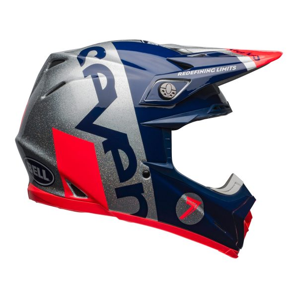 bell-moto-9-flex-dirt-helmet-seven-galaxy-matte-gloss-navy-silver-right.jpg-Seven MX 2021 Moto-9 Flex Adult Helmet (Galaxy M/G Navy/Silver)