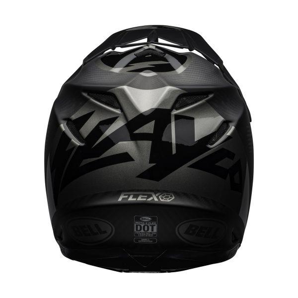 bell-moto-9-flex-dirt-helmet-slayco-matte-gloss-gray-black-back__54622.jpg-Bell MX 2021 Moto-9 Flex Adult Helmet (Slayco M/G Black/Grey)
