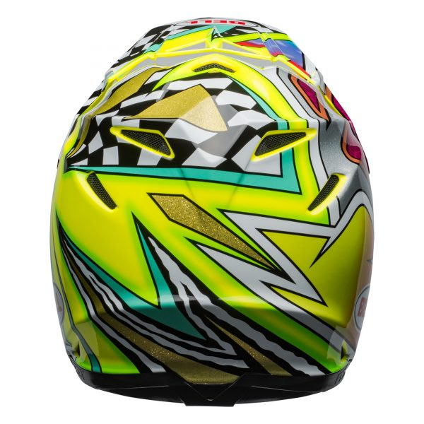 bell-moto-9-flex-dirt-helmet-tagger-mayhem-gloss-green-black-white-back__11025.jpg-Bell MX 2021 Moto-9 Flex Adult Helmet (Tagger Mayhem Green/Black/White)