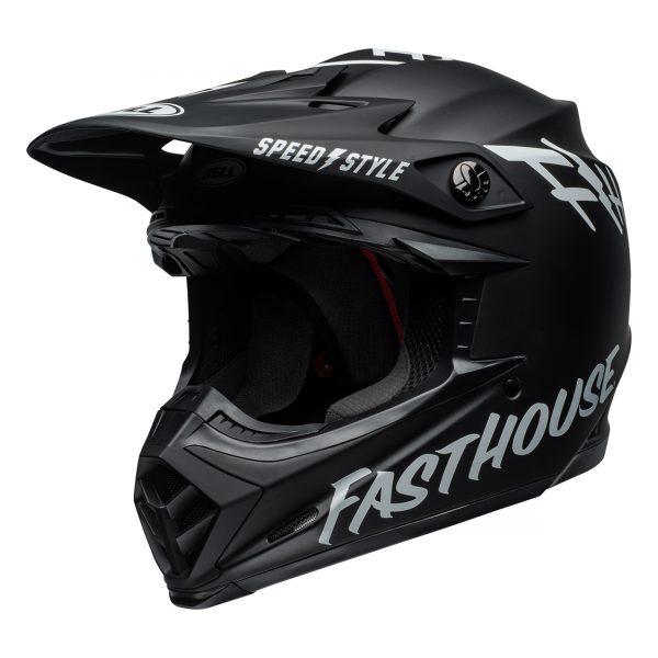 bell-moto-9-mips-dirt-helmet-fasthouse-matte-black-white-front-left__65350.jpg-Bell MX 2021 Moto-9 Mips Adult Helmet (Fasthouse Black/White)