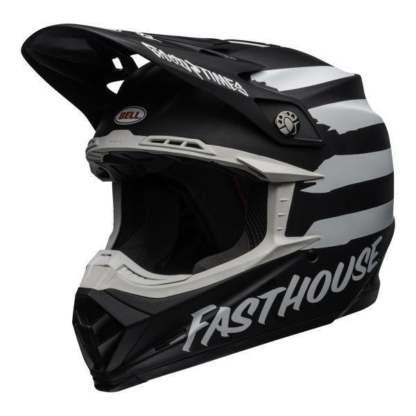 bell-moto-9-mips-dirt-helmet-fasthouse-signia-matte-black-white-front-left.jpg-Bell MX 2021 Moto-9 Mips Adult Helmet (Fasthouse Signia Black/White)