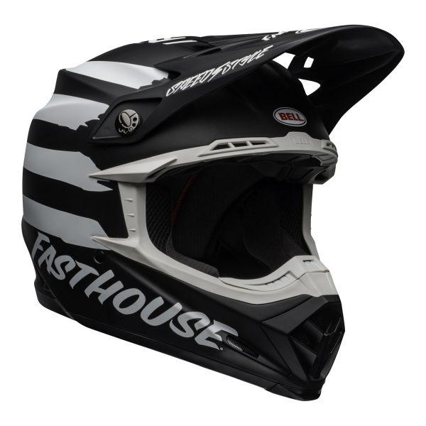 bell-moto-9-mips-dirt-helmet-fasthouse-signia-matte-black-white-front-right.jpg-Bell MX 2021 Moto-9 Mips Adult Helmet (Fasthouse Signia Black/White)