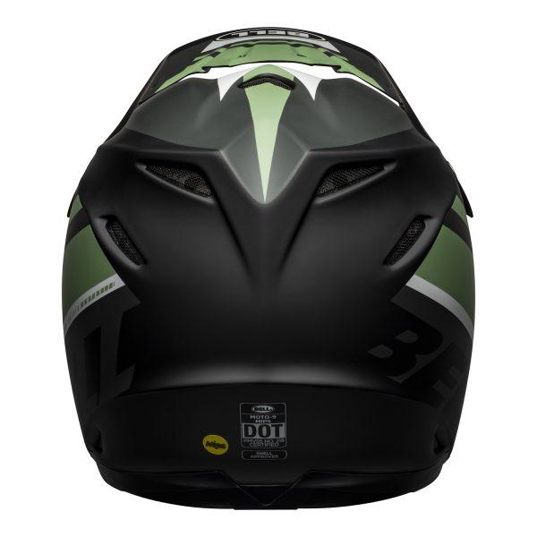 bell-moto-9-mips-dirt-helmet-prophecy-matte-black-dark-green-back__16598.jpg-Bell MX 2021 Moto-9 Mips Adult Helmet (Prophecy Matte Black/Dark Green)
