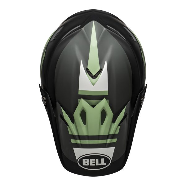 bell-moto-9-mips-dirt-helmet-prophecy-matte-black-dark-green-top__89085.jpg-Bell MX 2021 Moto-9 Mips Adult Helmet (Prophecy Matte Black/Dark Green)