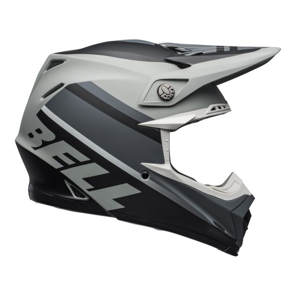 bell-moto-9-mips-dirt-helmet-prophecy-matte-gray-black-white-right.jpg-Bell MX 2021 Moto-9 Mips Adult Helmet (Prophecy Matte Gray/Black/White)