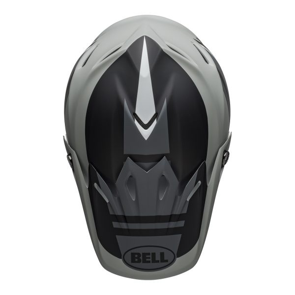 bell-moto-9-mips-dirt-helmet-prophecy-matte-gray-black-white-top.jpg-Bell MX 2021 Moto-9 Mips Adult Helmet (Prophecy Matte Gray/Black/White)