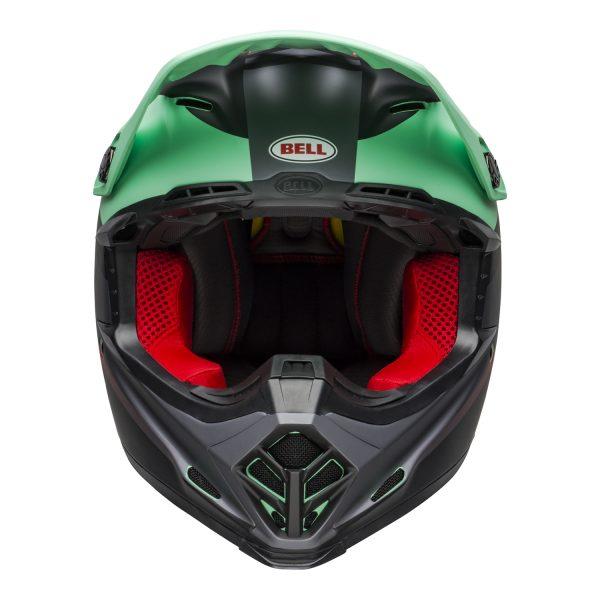 bell-moto-9-mips-dirt-helmet-prophecy-matte-green-infrared-black-front.jpg-Bell MX 2021 Moto-9 Mips Adult Helmet (Prophecy Matte Green/Infrared/Black)