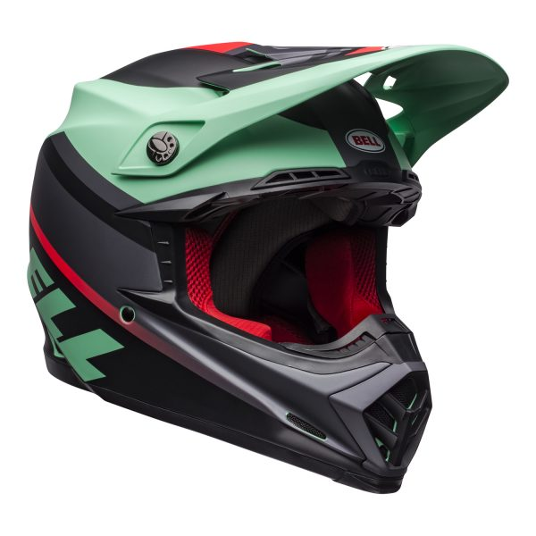bell-moto-9-mips-dirt-helmet-prophecy-matte-green-infrared-black-front-right.jpg-Bell MX 2021 Moto-9 Mips Adult Helmet (Prophecy Matte Green/Infrared/Black)