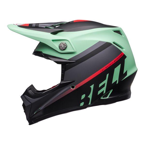 bell-moto-9-mips-dirt-helmet-prophecy-matte-green-infrared-black-left.jpg-Bell MX 2021 Moto-9 Mips Adult Helmet (Prophecy Matte Green/Infrared/Black)