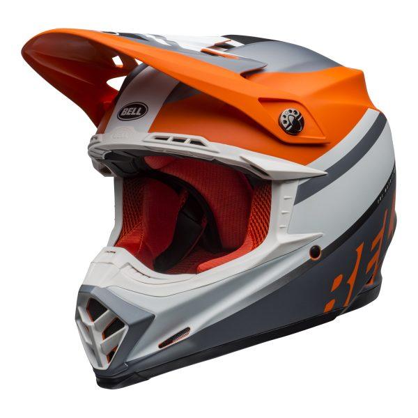 bell-moto-9-mips-dirt-helmet-prophecy-matte-orange-black-gray-front-left.jpg-Bell MX 2021 Moto-9 Mips Adult Helmet (Prophecy Matte Orange/Black/Gray)
