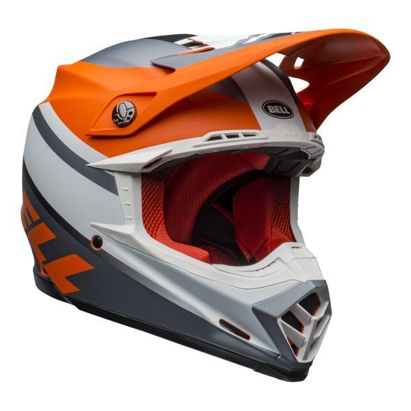 bell-moto-9-mips-dirt-helmet-prophecy-matte-orange-black-gray-front-right.jpg-Bell MX 2021 Moto-9 Mips Adult Helmet (Prophecy Matte Orange/Black/Gray)
