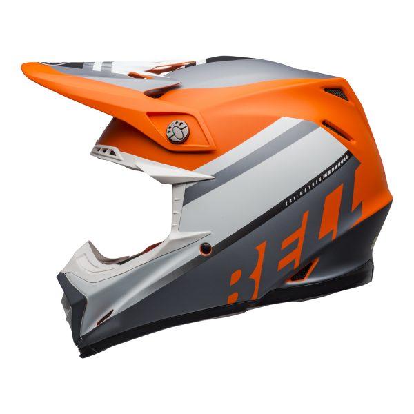 bell-moto-9-mips-dirt-helmet-prophecy-matte-orange-black-gray-left.jpg-Bell MX 2021 Moto-9 Mips Adult Helmet (Prophecy Matte Orange/Black/Gray)