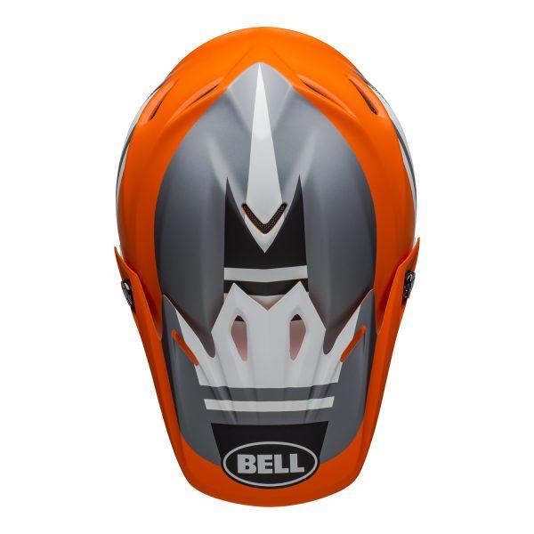 bell-moto-9-mips-dirt-helmet-prophecy-matte-orange-black-gray-top.jpg-Bell MX 2021 Moto-9 Mips Adult Helmet (Prophecy Matte Orange/Black/Gray)
