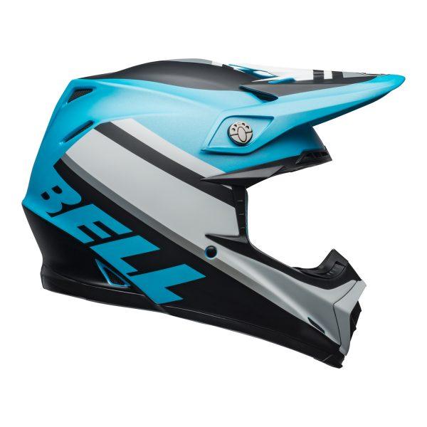 bell-moto-9-mips-dirt-helmet-prophecy-matte-white-black-blue-right.jpg-Bell MX 2021 Moto-9 Mips Adult Helmet (Prophecy Matte White/Black/Blue)