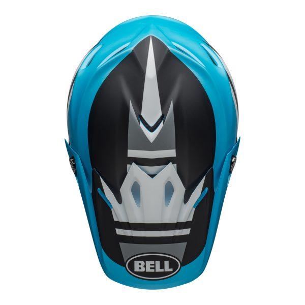 bell-moto-9-mips-dirt-helmet-prophecy-matte-white-black-blue-top.jpg-Bell MX 2021 Moto-9 Mips Adult Helmet (Prophecy Matte White/Black/Blue)