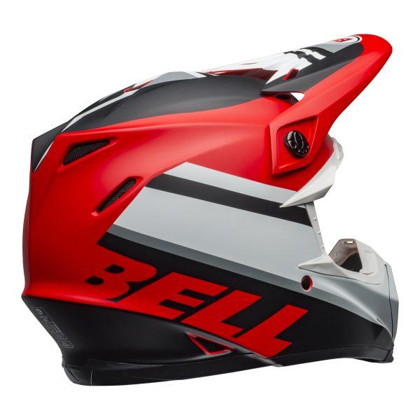bell-moto-9-mips-dirt-helmet-prophecy-matte-white-red-black-back-right.jpg-Bell MX 2021 Moto-9 Mips Adult Helmet (Prophecy Matte White/Red/Black)