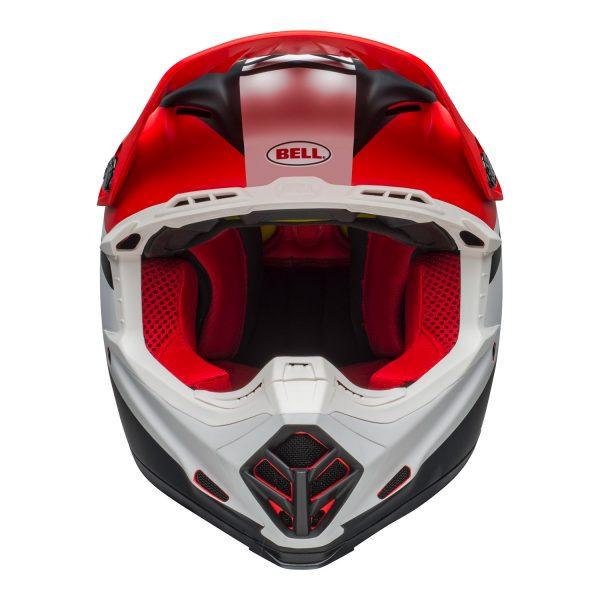 bell-moto-9-mips-dirt-helmet-prophecy-matte-white-red-black-front.jpg-Bell MX 2021 Moto-9 Mips Adult Helmet (Prophecy Matte White/Red/Black)