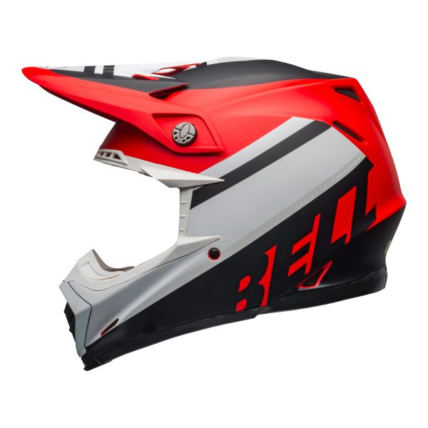 bell-moto-9-mips-dirt-helmet-prophecy-matte-white-red-black-left.jpg-Bell MX 2021 Moto-9 Mips Adult Helmet (Prophecy Matte White/Red/Black)